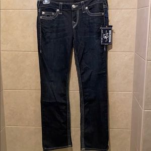 True Religion petite straight leg jeans
